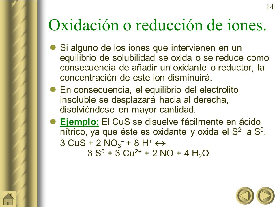 Oxidación o reducción de iones.
