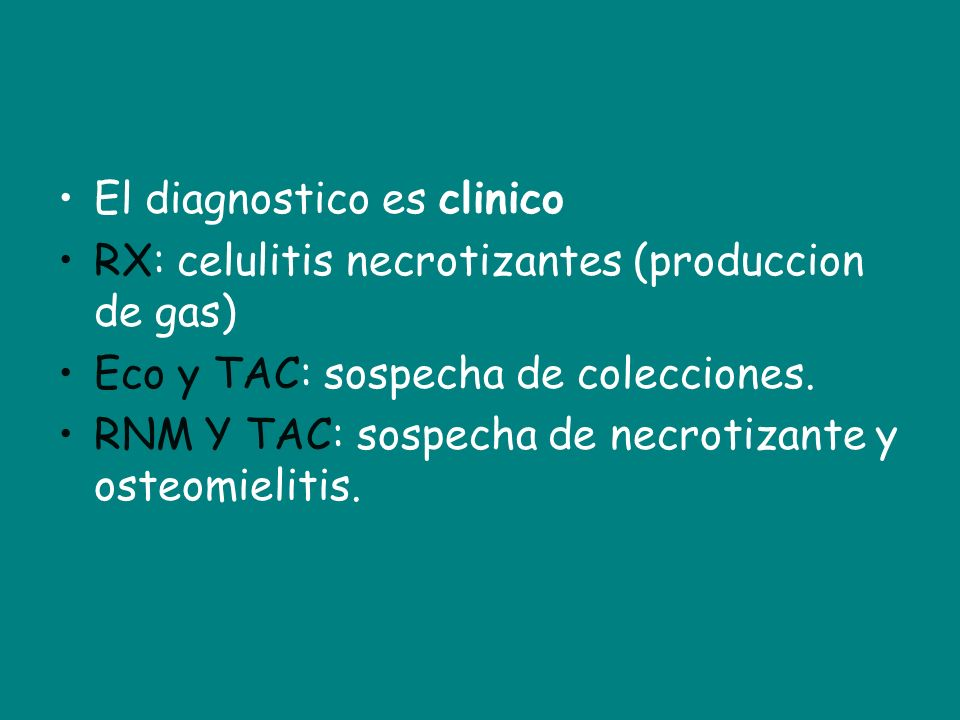 El diagnostico es clinico