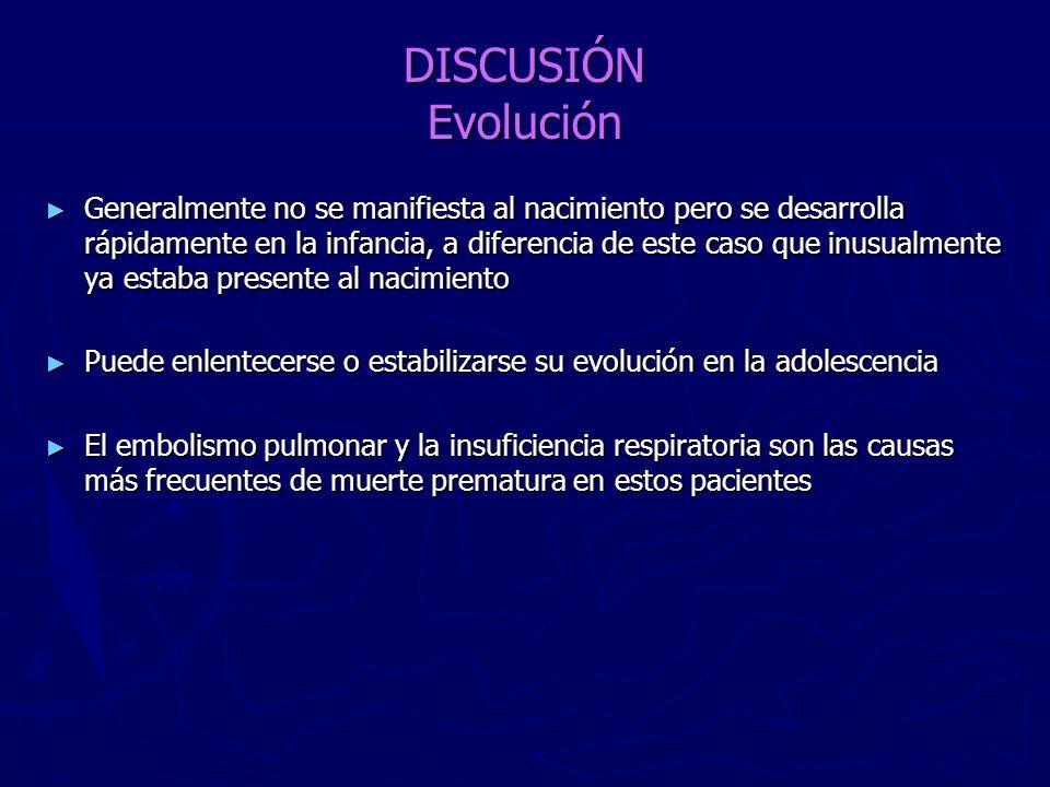 DISCUSIÓN Evolución