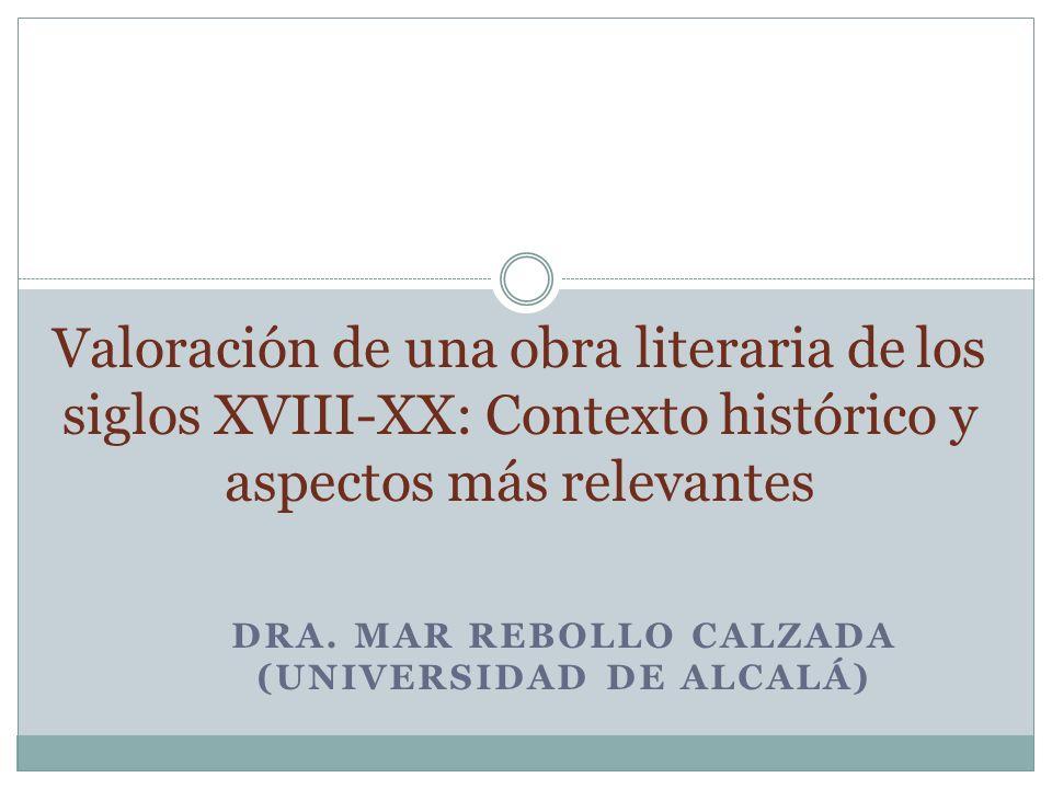 Dra. Mar Rebollo Calzada (Universidad de Alcalá)