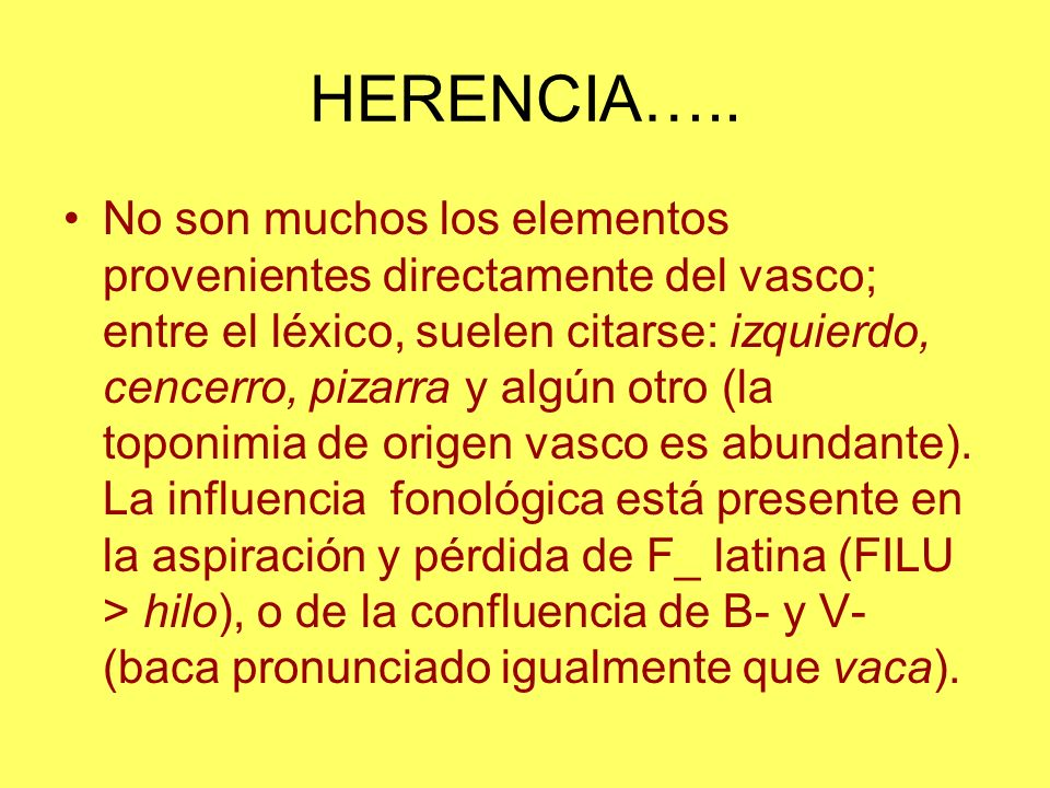 HERENCIA…..