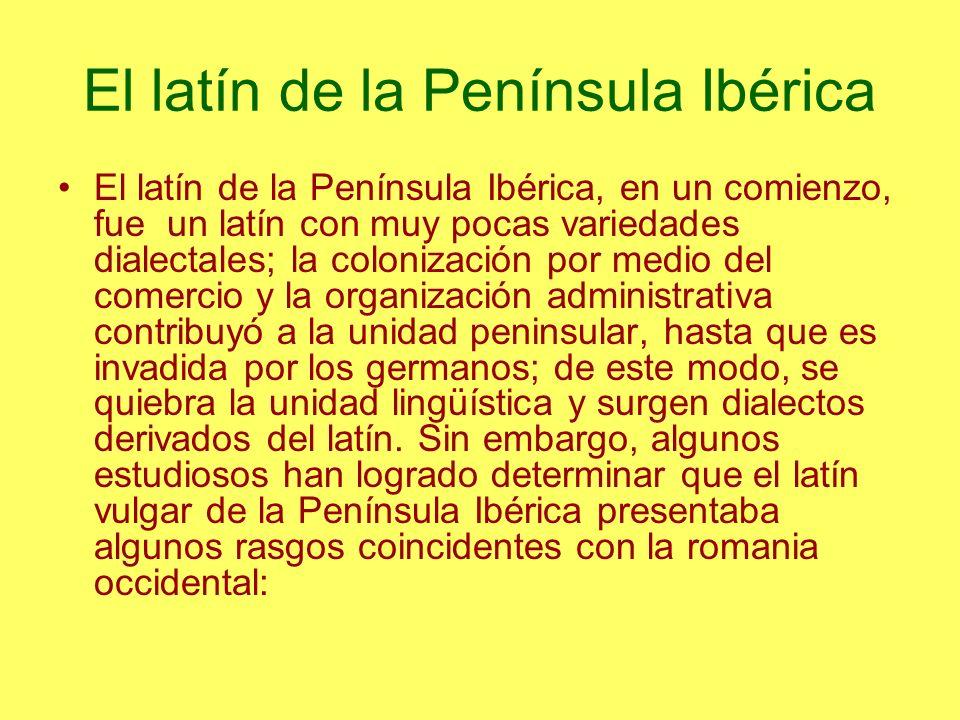 El latín de la Península Ibérica