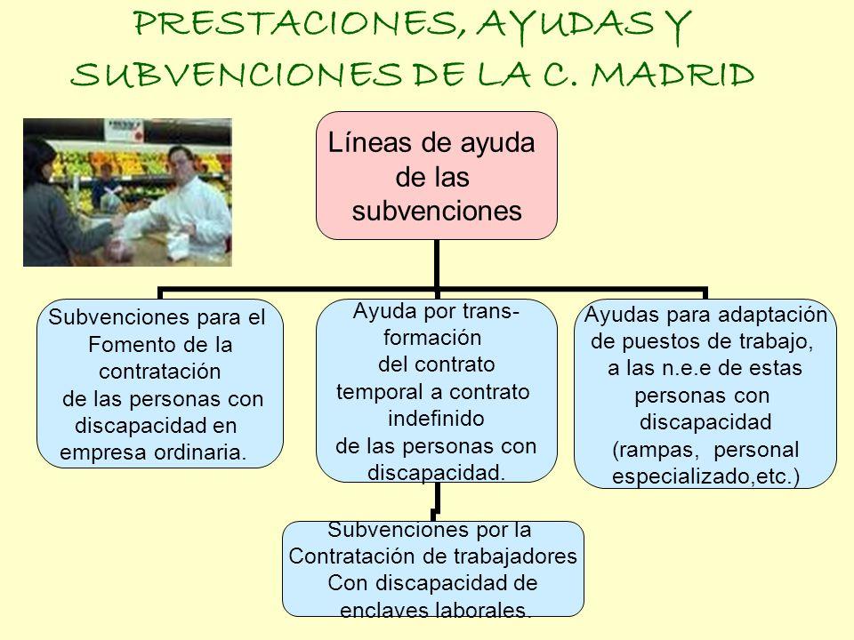 PRESTACIONES, AYUDAS Y SUBVENCIONES DE LA C. MADRID