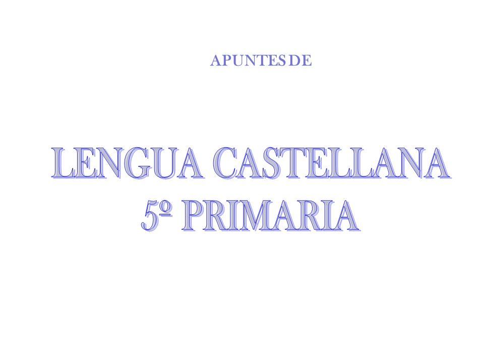 APUNTES DE LENGUA CASTELLANA 5º PRIMARIA