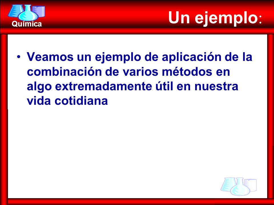 Un ejemplo: Veamos un ejemplo de aplicación de la combinación de varios métodos en algo extremadamente útil en nuestra vida cotidiana.