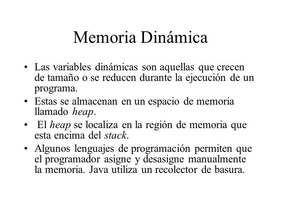 Memoria Dinámica Las variables dinámicas son aquellas que crecen de tamaño o se reducen durante la ejecución de un programa.