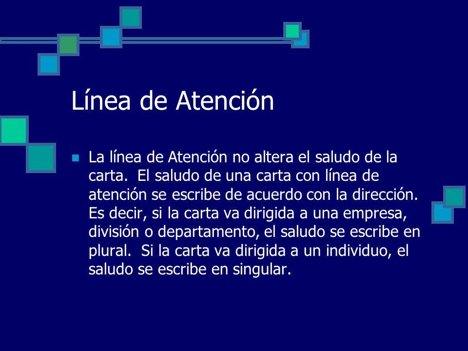 Línea de Atención