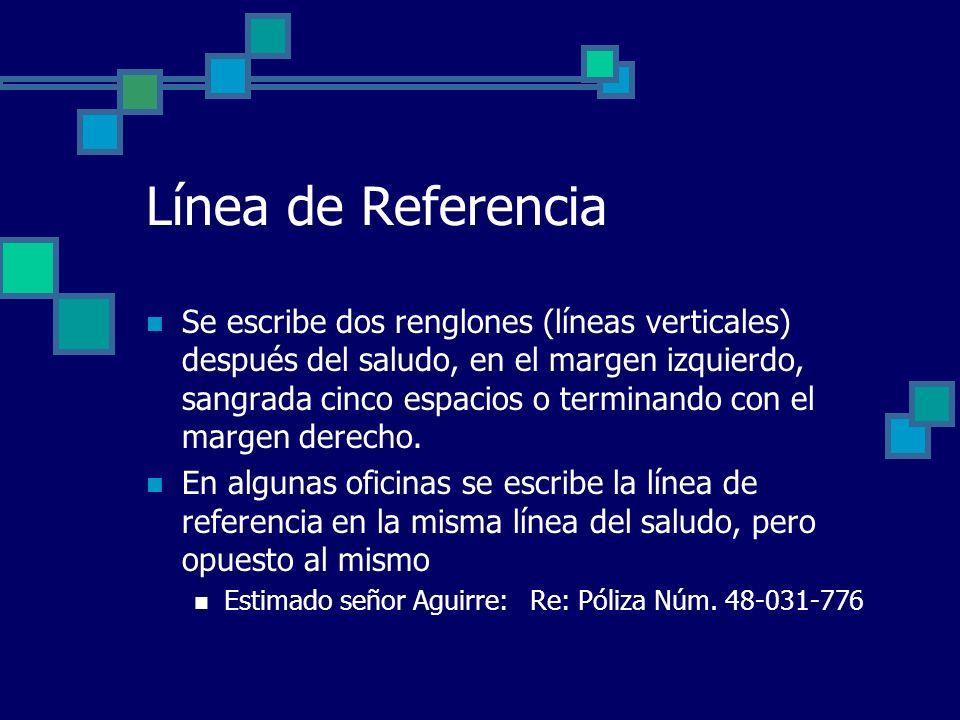 Línea de Referencia