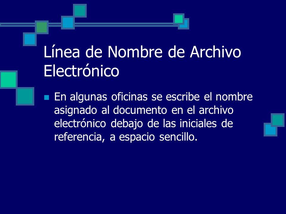 Línea de Nombre de Archivo Electrónico