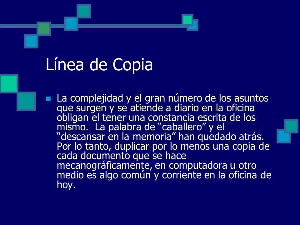 Línea de Copia