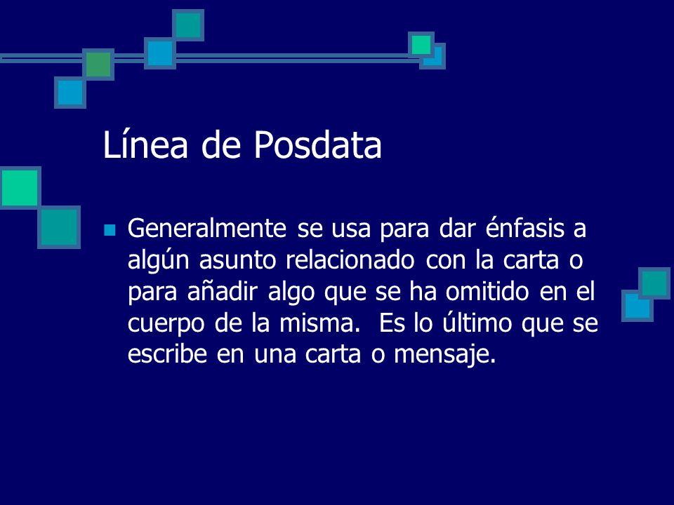 Línea de Posdata