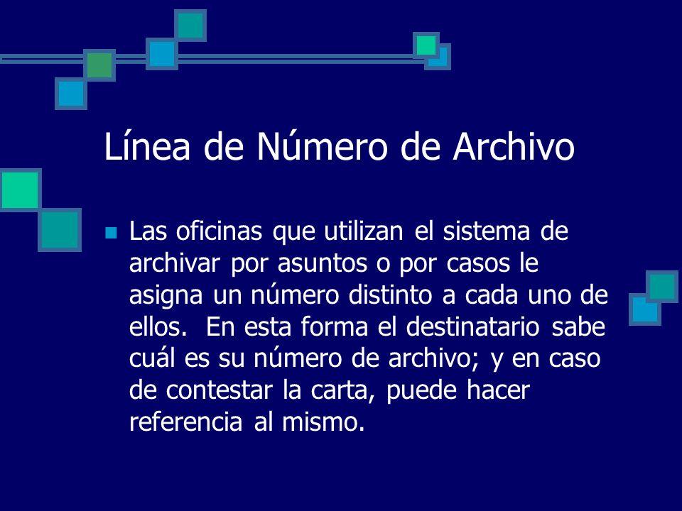 Línea de Número de Archivo