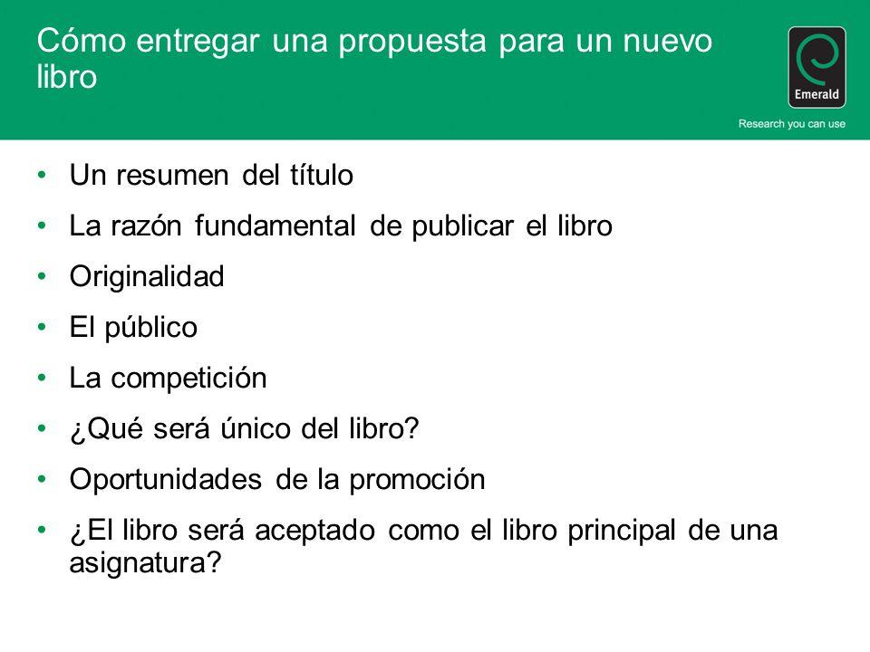 Cómo entregar una propuesta para un nuevo libro