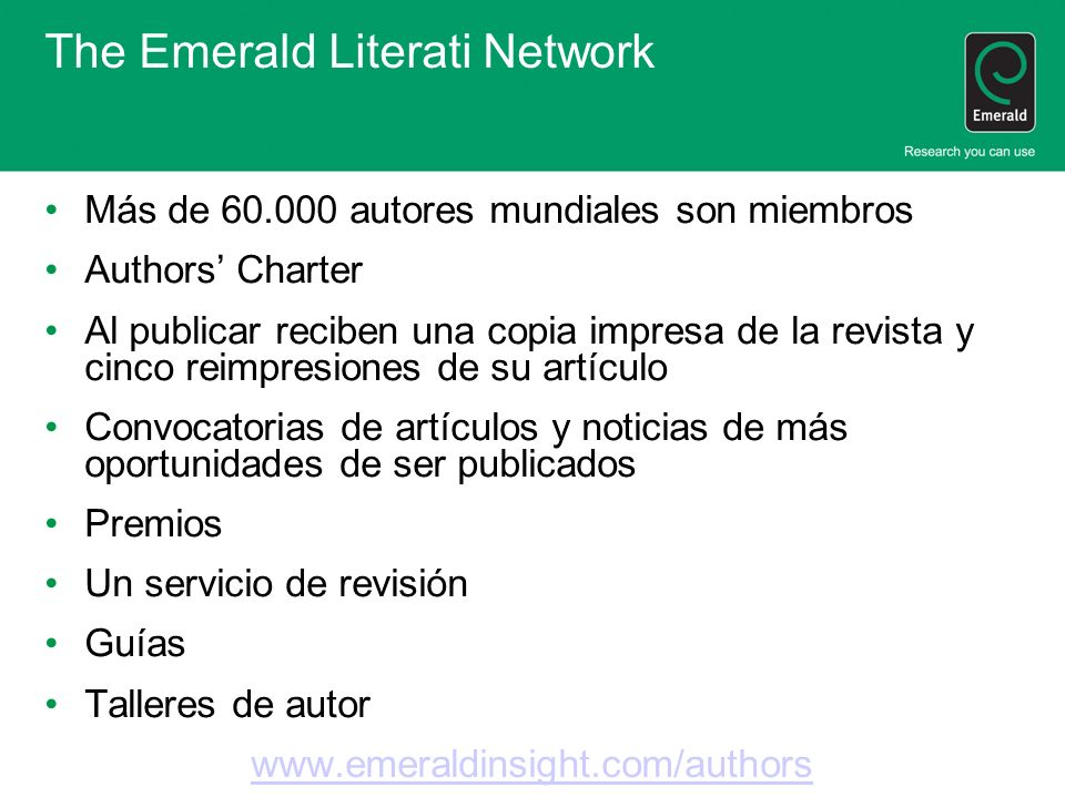 The Emerald Literati Network
