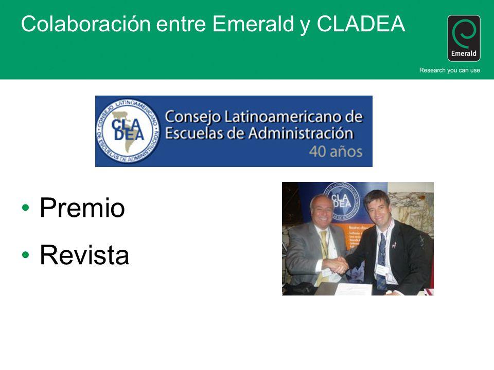 Colaboración entre Emerald y CLADEA
