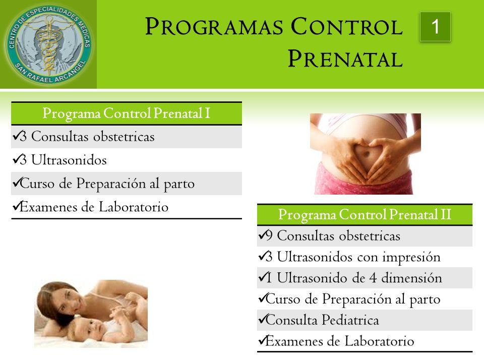 Programas Control Prenatal