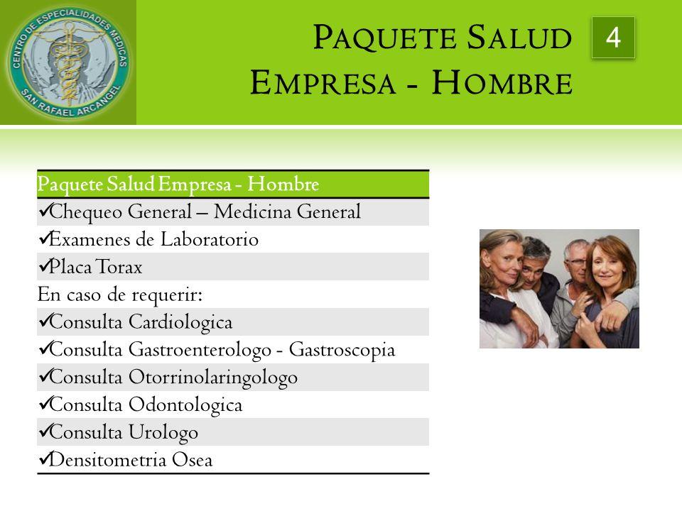 Paquete Salud Empresa - Hombre