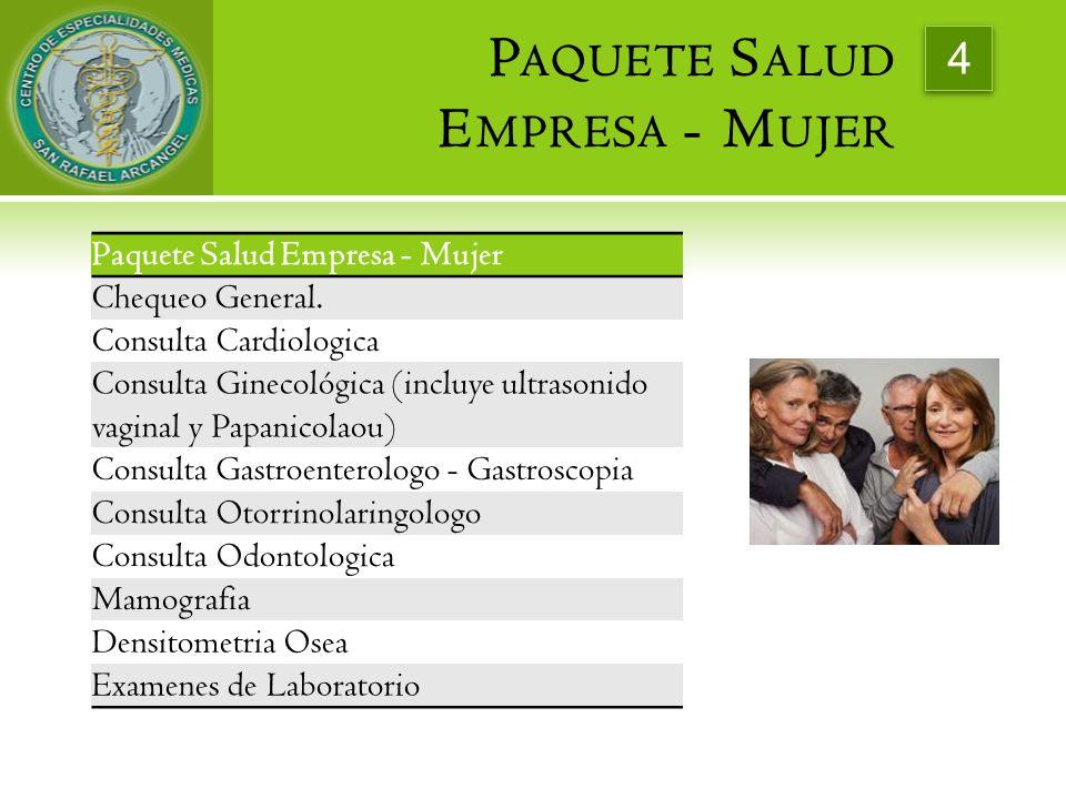 Paquete Salud Empresa - Mujer