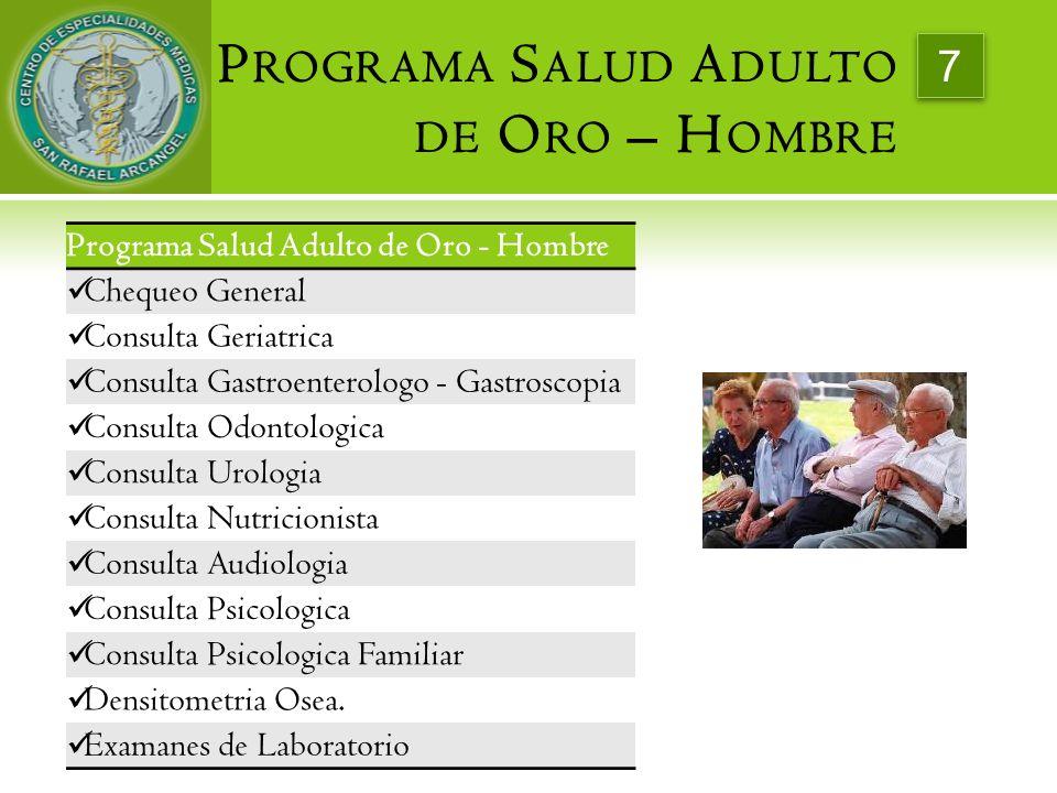 Programa Salud Adulto de Oro – Hombre