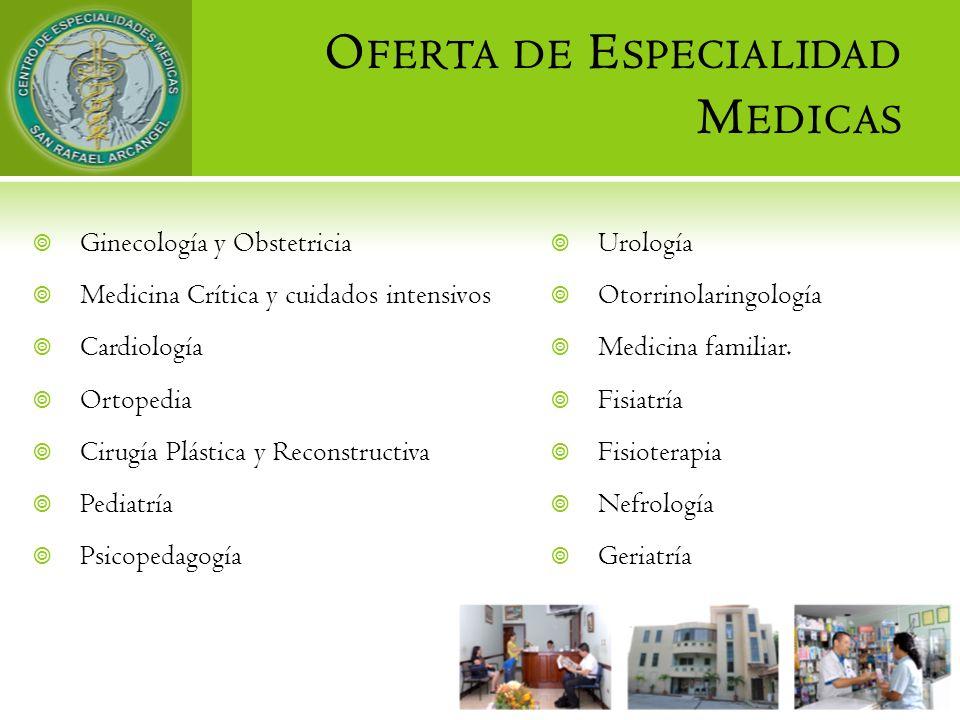 Oferta de Especialidad Medicas