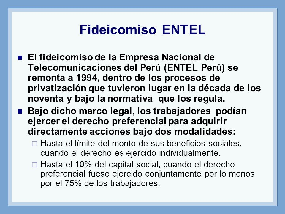 Fideicomiso ENTEL