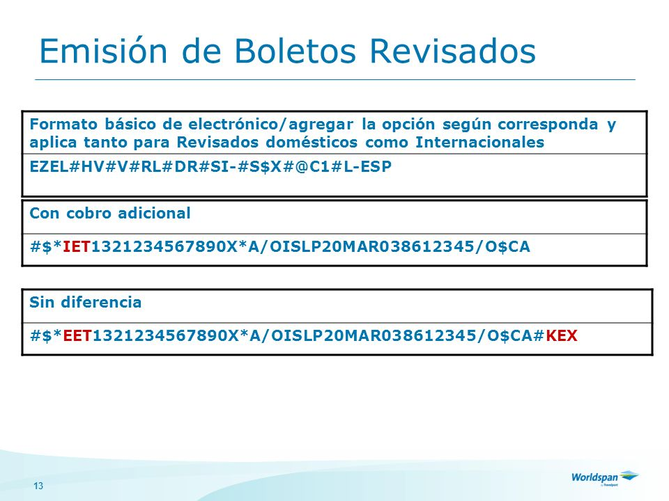 Emisión de Boletos Revisados