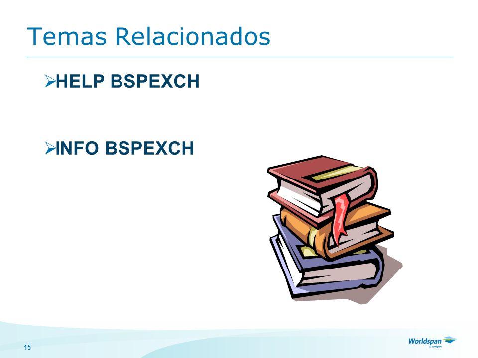 Temas Relacionados HELP BSPEXCH INFO BSPEXCH