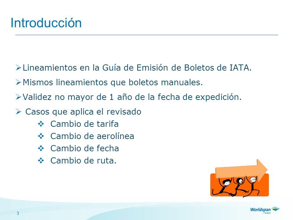 Introducción Lineamientos en la Guía de Emisión de Boletos de IATA.