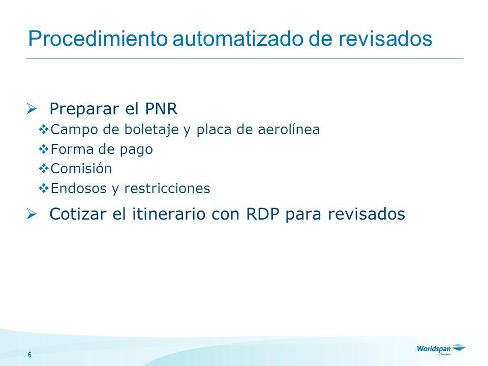 Procedimiento automatizado de revisados