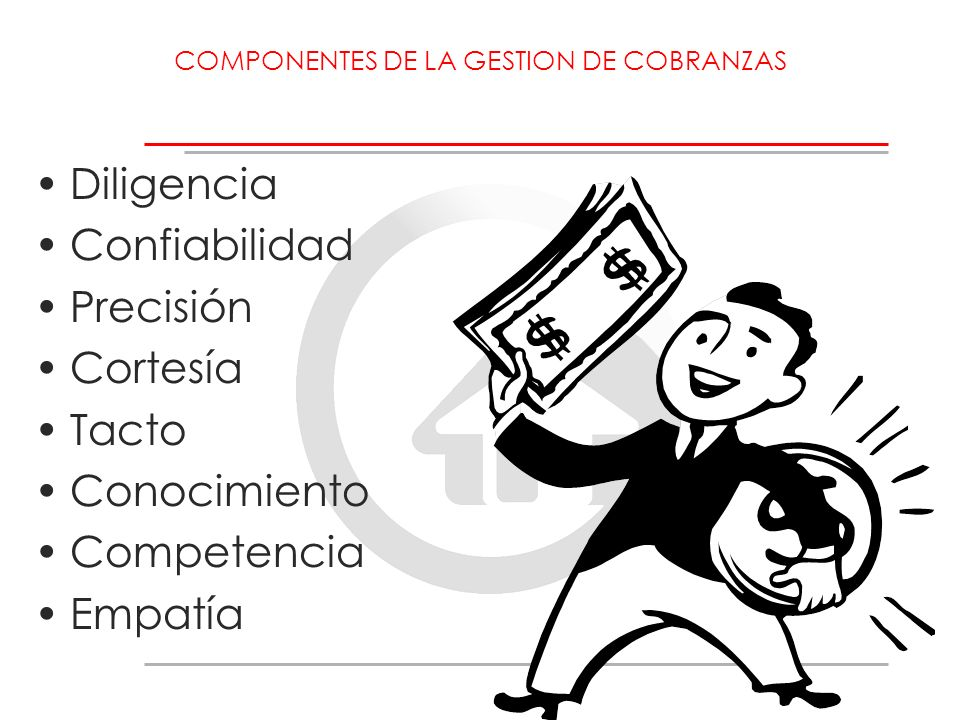 COMPONENTES DE LA GESTION DE COBRANZAS