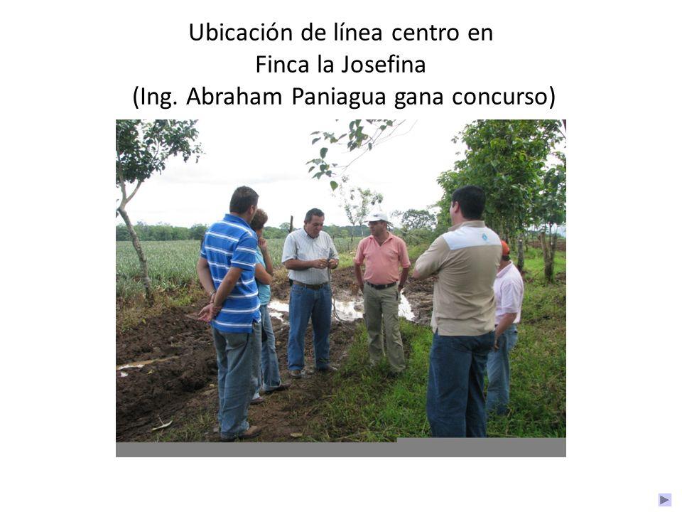 Ubicación de línea centro en Finca la Josefina (Ing