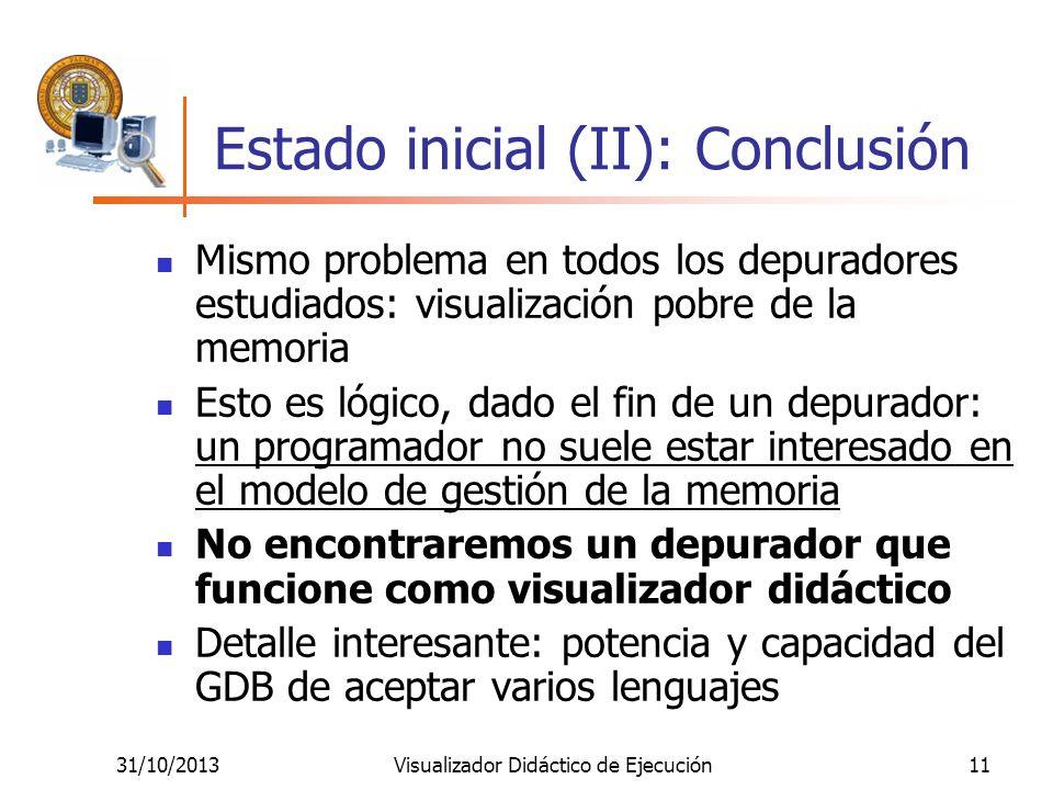 Estado inicial (II): Conclusión