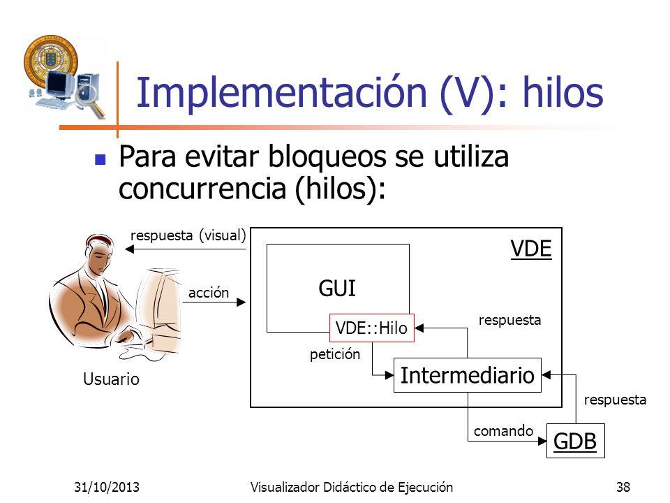 Implementación (V): hilos
