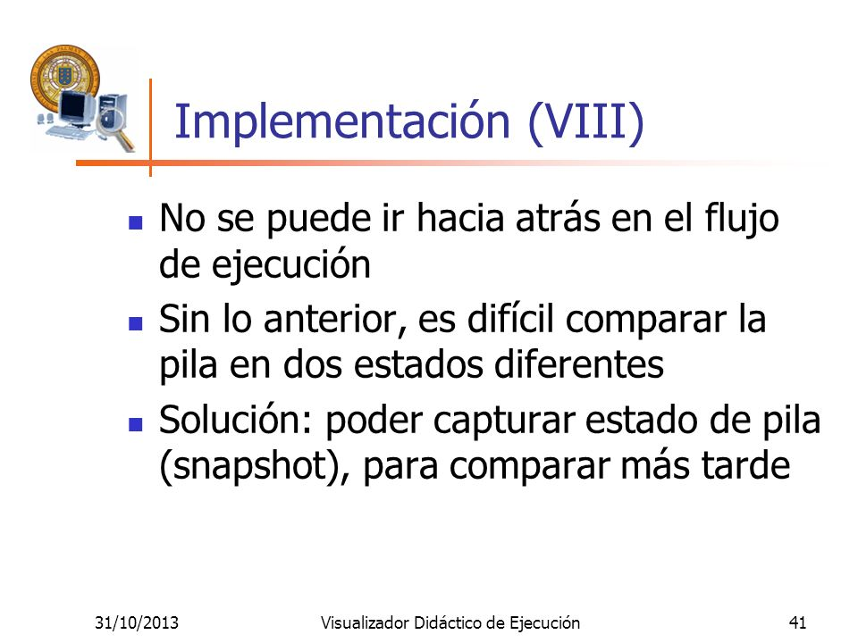 Implementación (VIII)