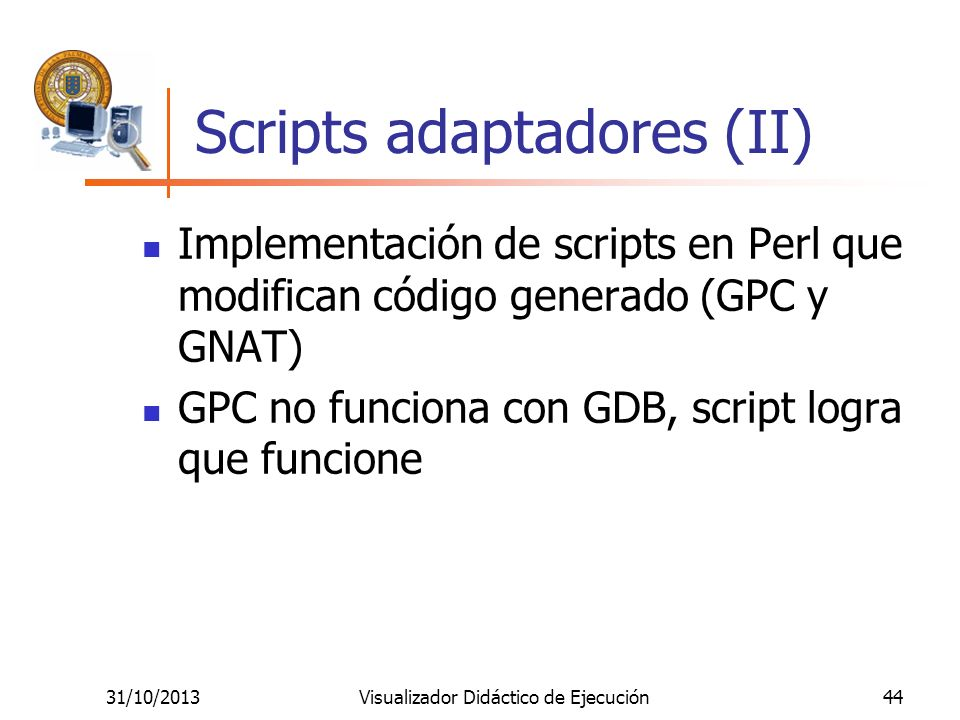 Scripts adaptadores (II)