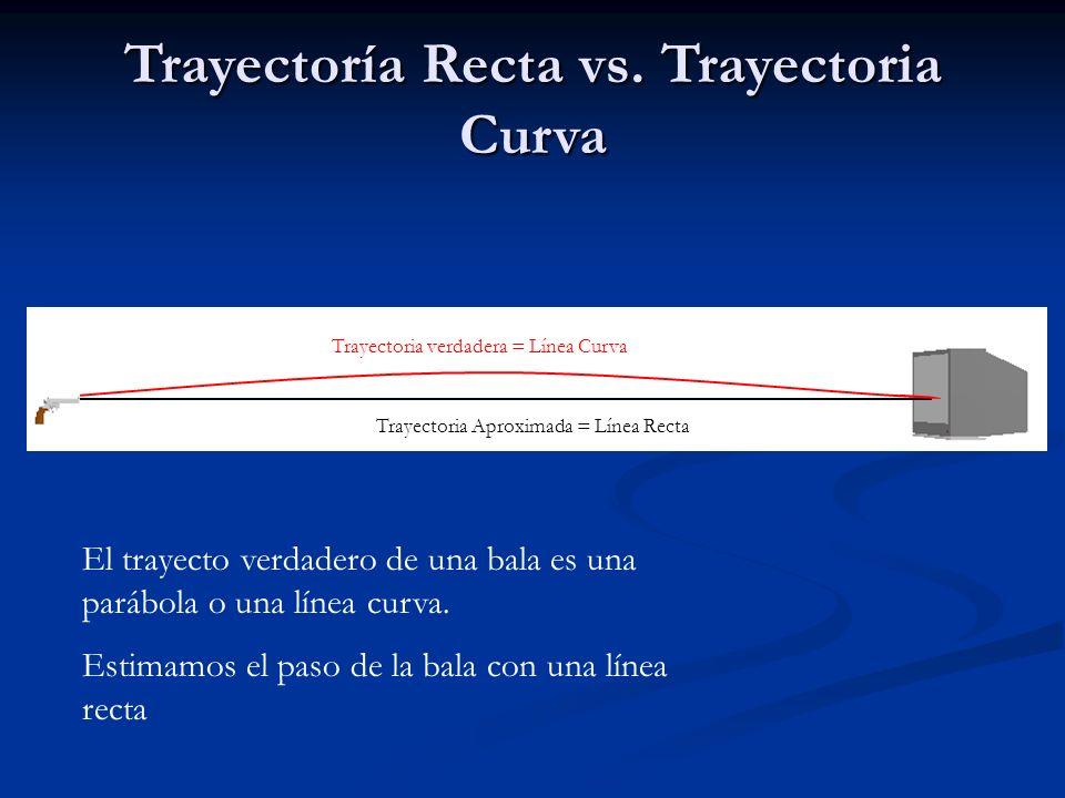 Trayectoría Recta vs. Trayectoria Curva