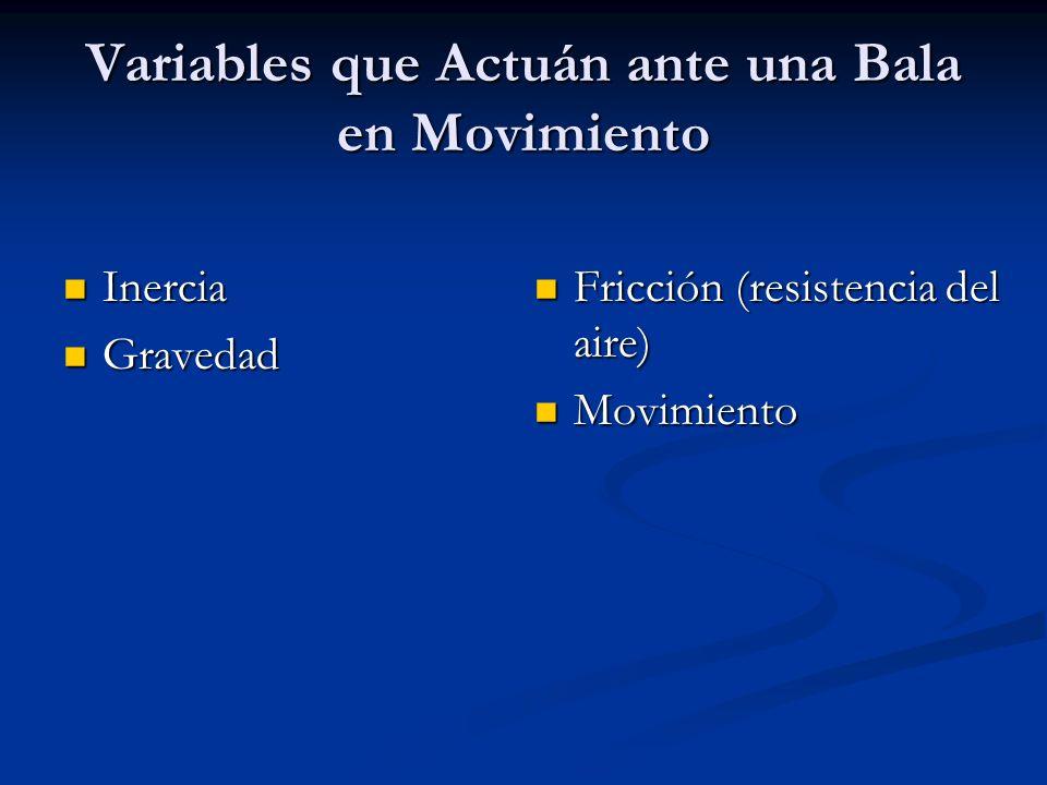 Variables que Actuán ante una Bala en Movimiento