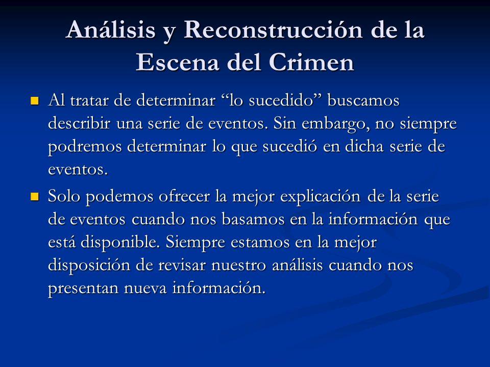 Análisis y Reconstrucción de la Escena del Crimen