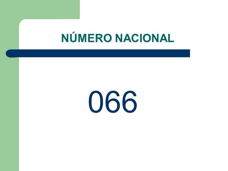 NÚMERO NACIONAL 066