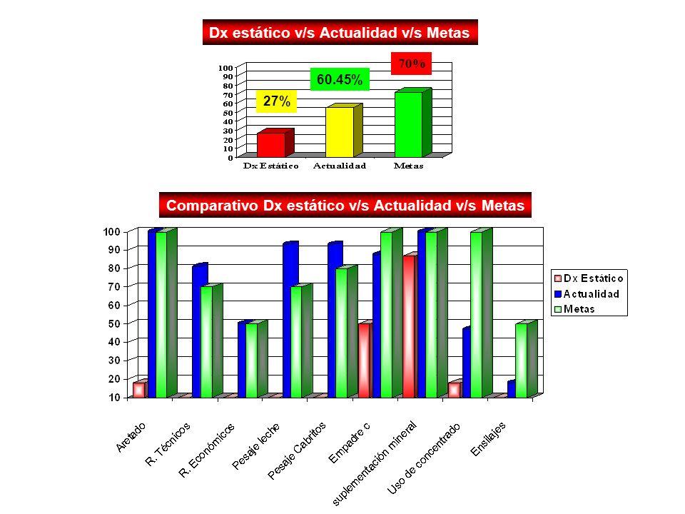 Dx estático v/s Actualidad v/s Metas