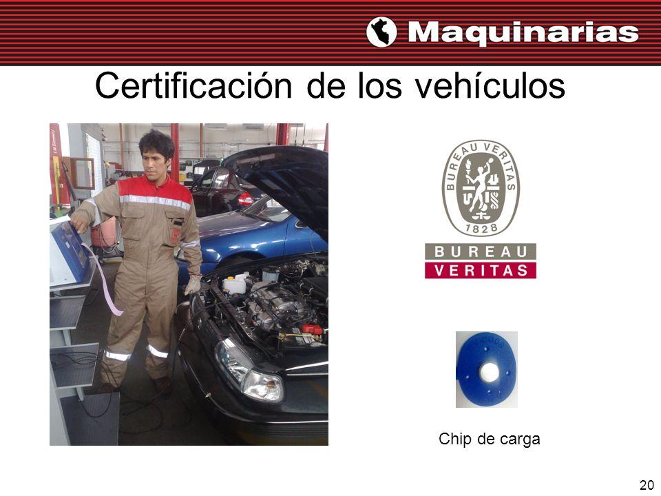 Certificación de los vehículos