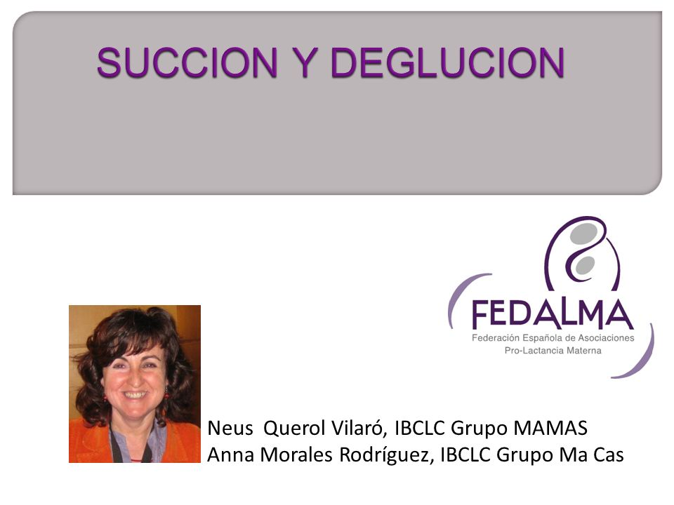 SUCCION Y DEGLUCION Neus Querol Vilaró, IBCLC Grupo MAMAS