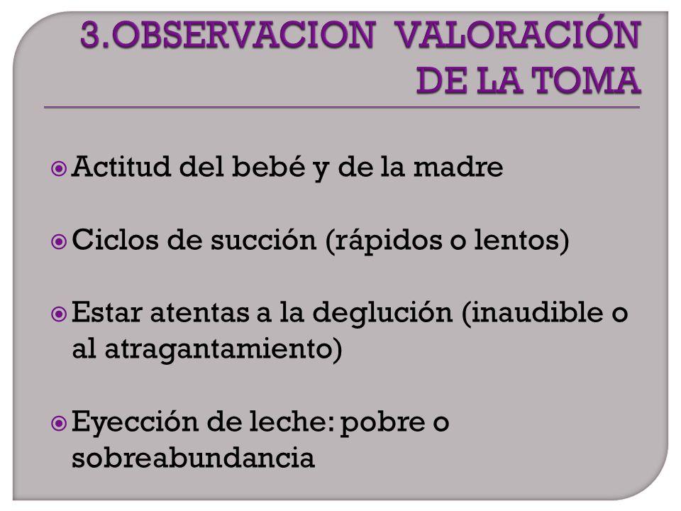 3.OBSERVACION VALORACIÓN DE LA TOMA