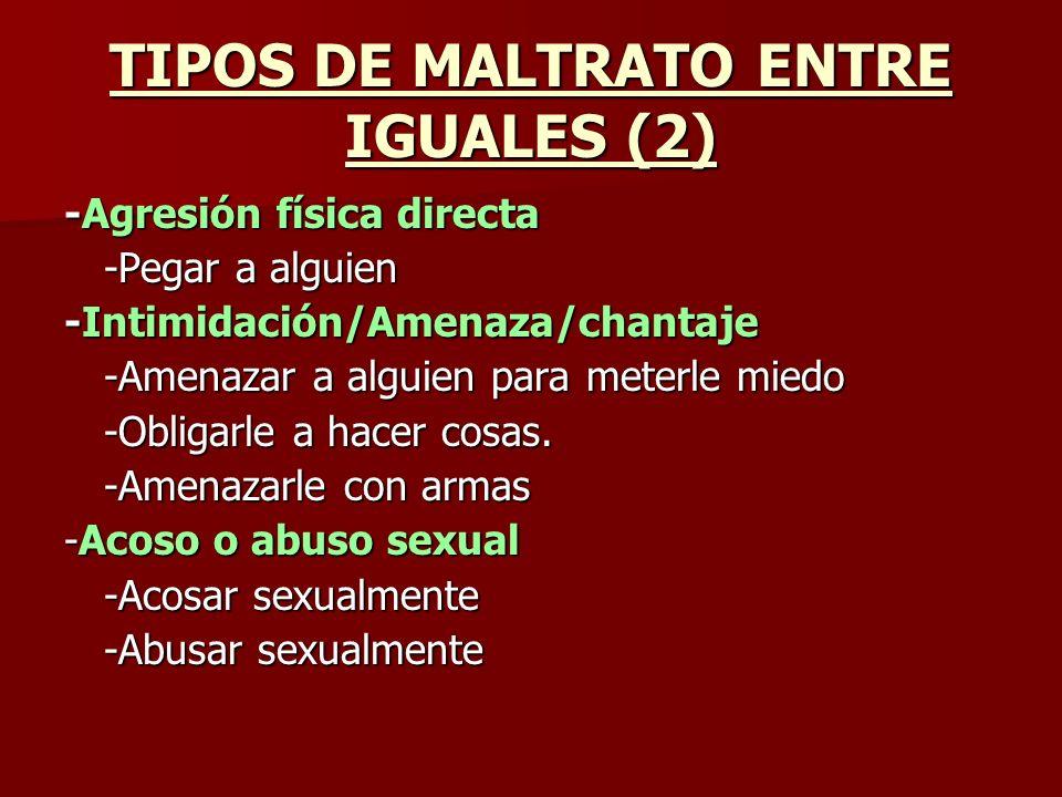 TIPOS DE MALTRATO ENTRE IGUALES (2)
