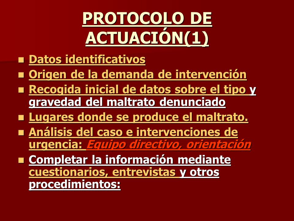 PROTOCOLO DE ACTUACIÓN(1)