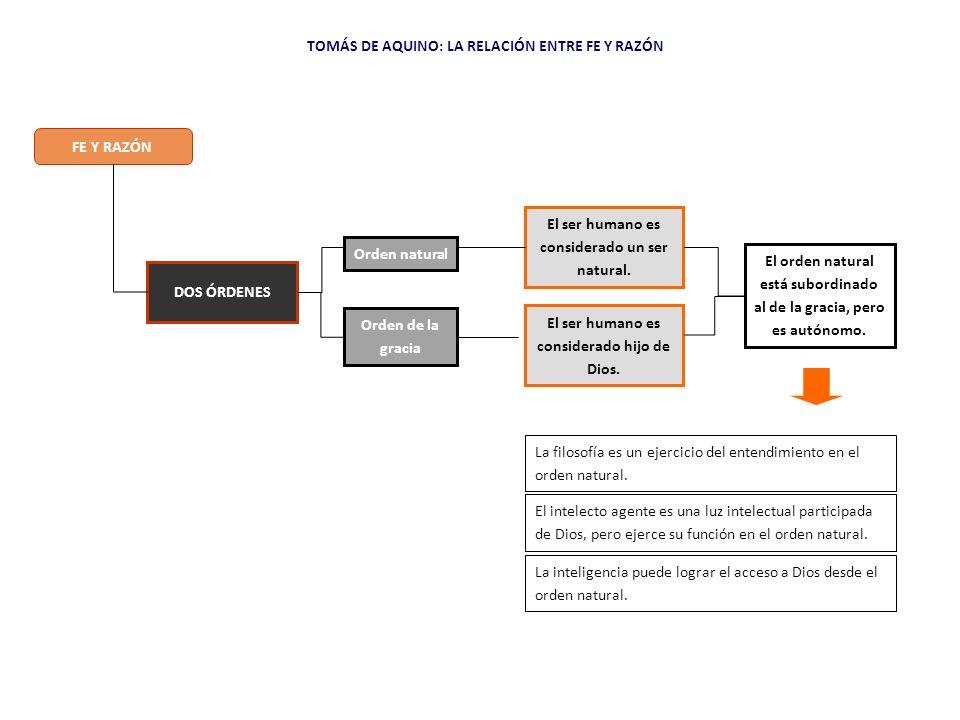 TOMÁS DE AQUINO: LA RELACIÓN ENTRE FE Y RAZÓN
