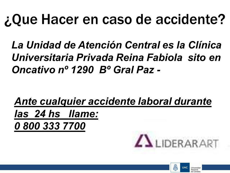 ¿Que Hacer en caso de accidente