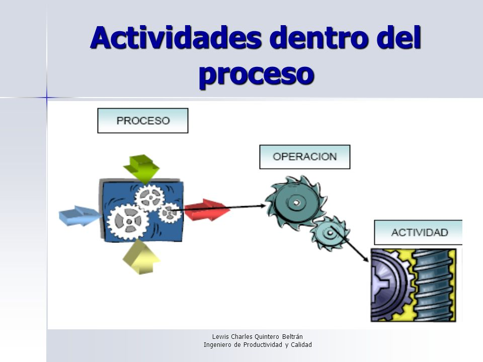 Actividades dentro del proceso
