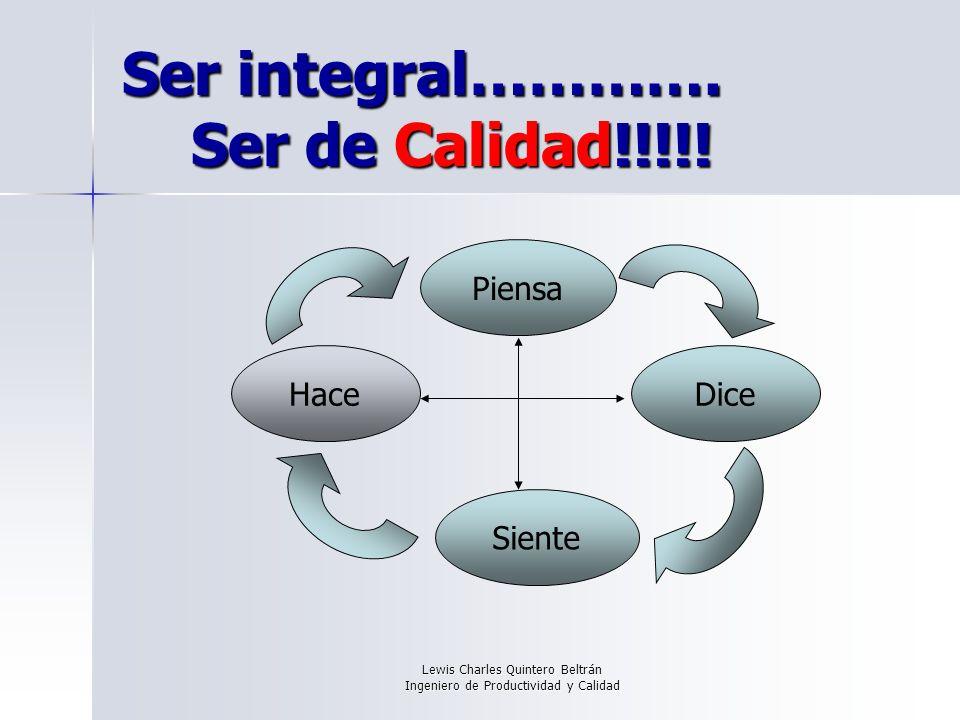 Ser integral…………. Ser de Calidad!!!!!