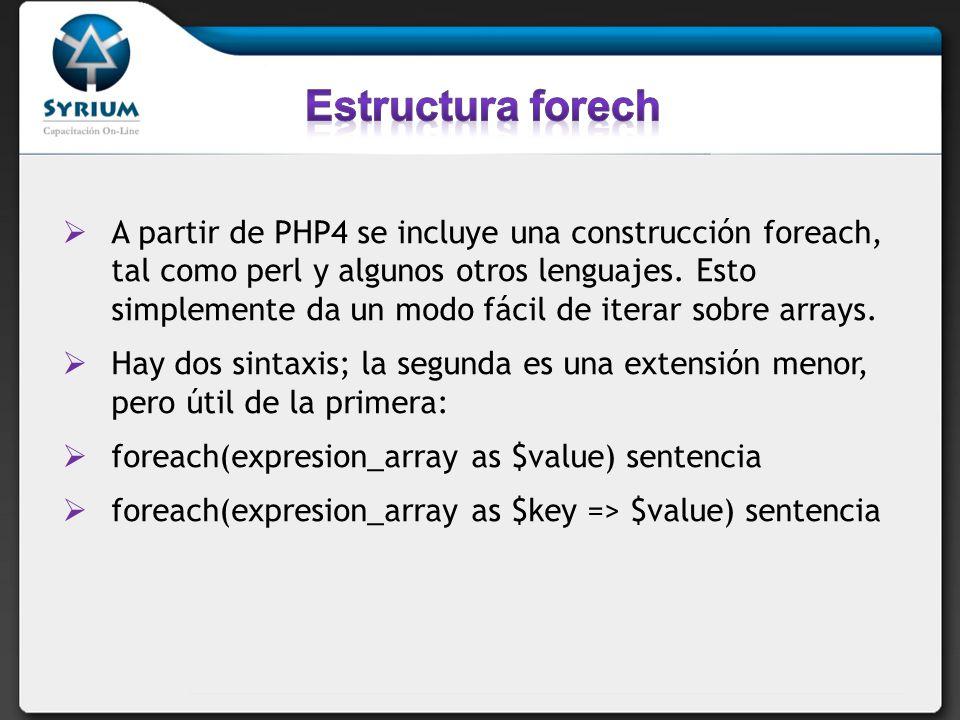 Estructura forech